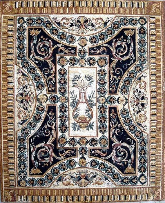 Flower Stone Carpet Mosaic Floor Pic