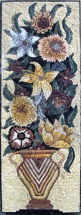 The Abstract Floral Stone Art Mosaic Pic