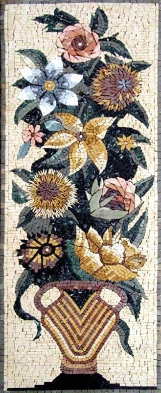 Jasmine and Daisies Floral Mosaic