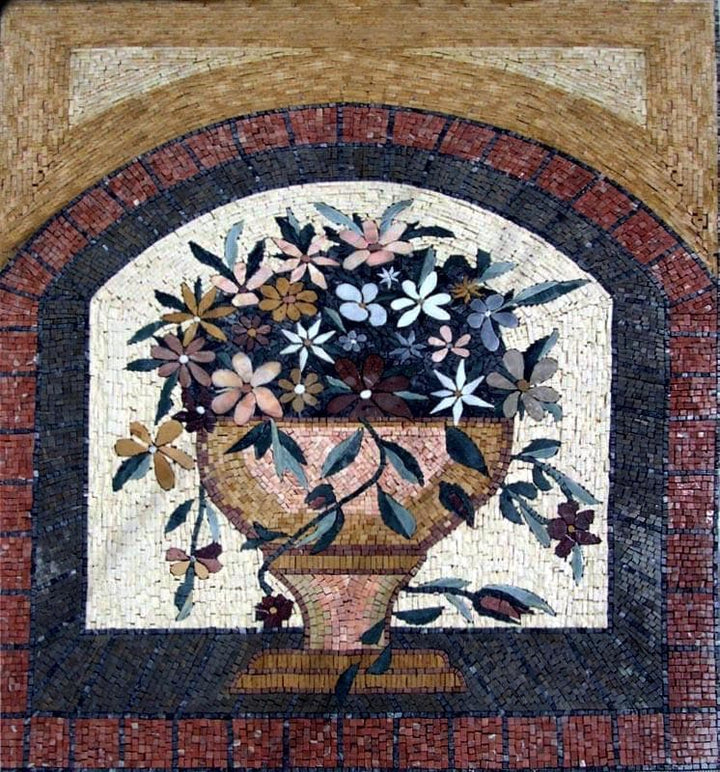 Mosaic Artwork - Beautiful Urn