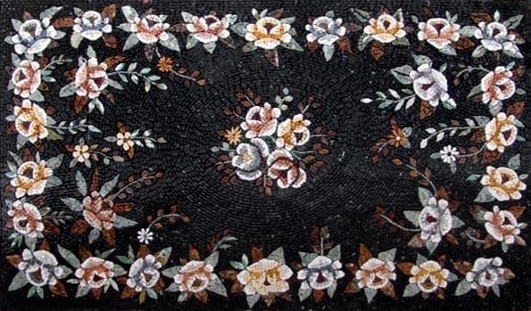 Flowers Rug Floor Mosaic