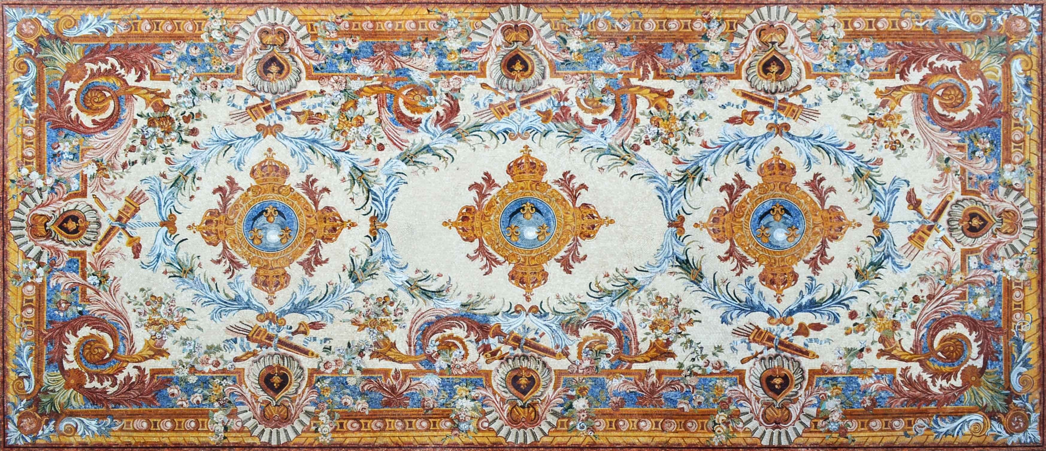 Royal Marble Mosaic Floor Rug Pic