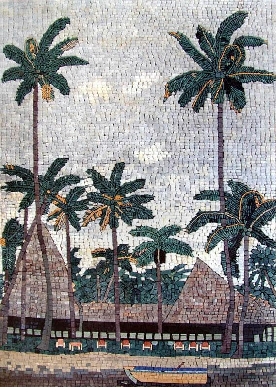Mosaic Wall Art - The Land Of Plams