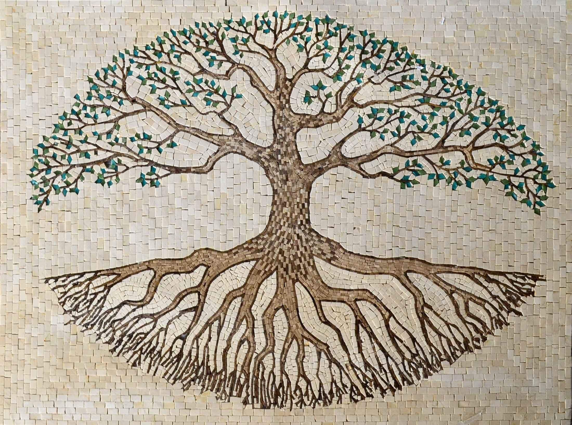 Mosaic Tile Art Tree Of Life Flowers And Trees Mozaico