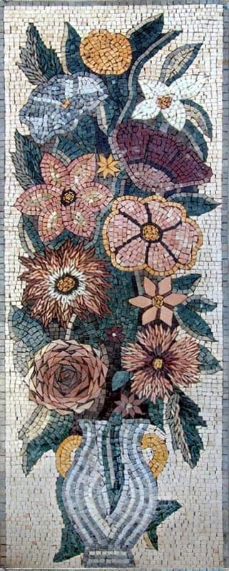 Mosaic Art - Tulips and Carnations