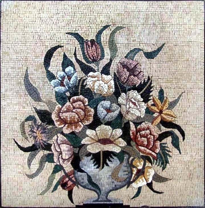 Mosaic Wall Art - Blossoms