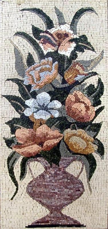 Mosaic Wall Art Lys Florals Pic