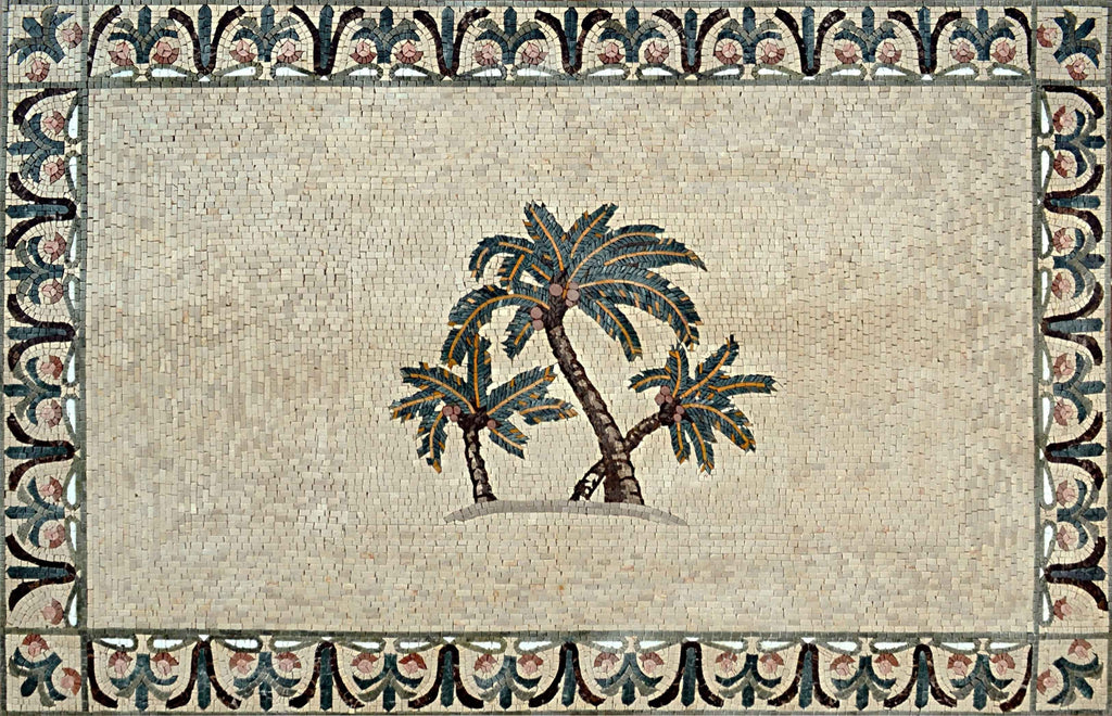 Palm Trees - Mosaic Tile Pattens