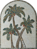 Mosaic Tile Patterns - Leaf of Palm Trees