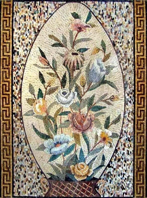 Mosaic Wall Art - The Floral Egg