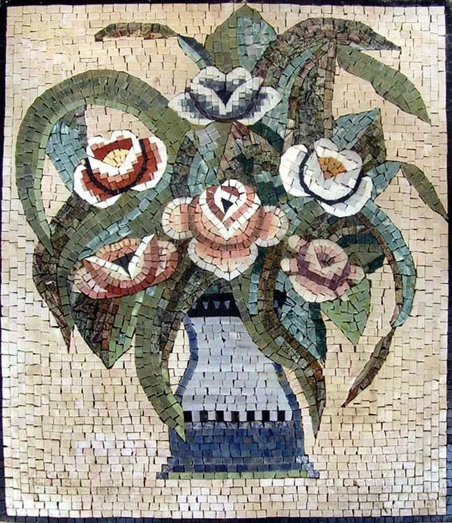 Mosaic Tile Art - The Rose Flower