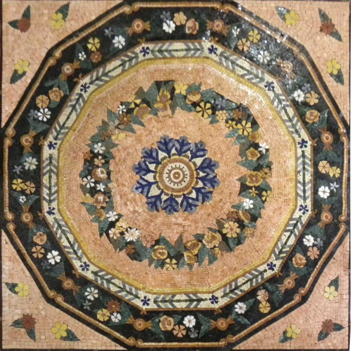 Polygon Flower Mosaic Panel - Anthia II