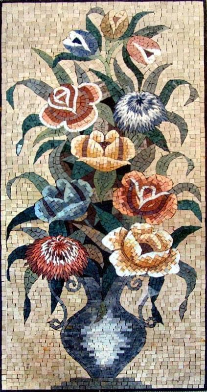 Mosaic Wall Art - The Colorful Roses