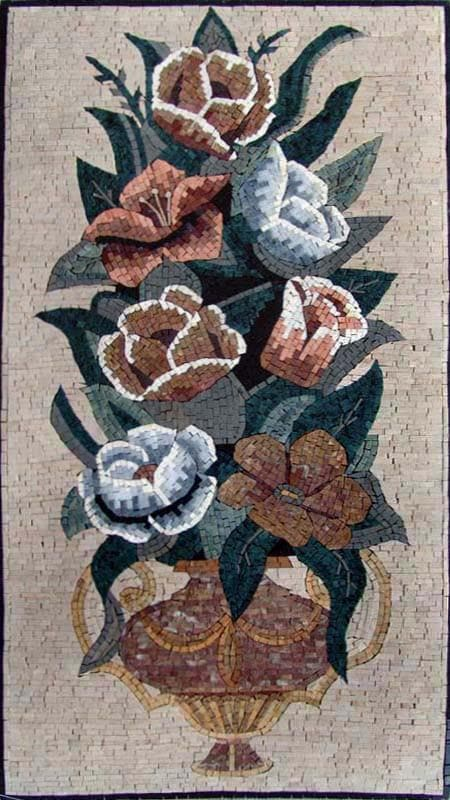 Mosaic Art Rosal Antique Pic