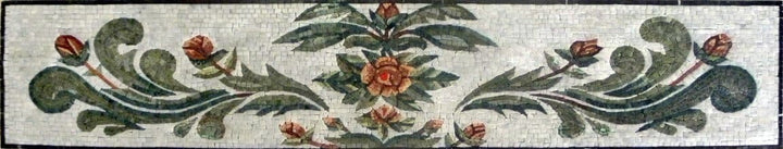 Mosaic Art - Flower Leaves Border