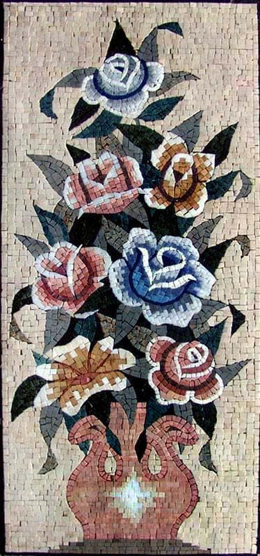 Mosaic Tile Designs - Rising Roses