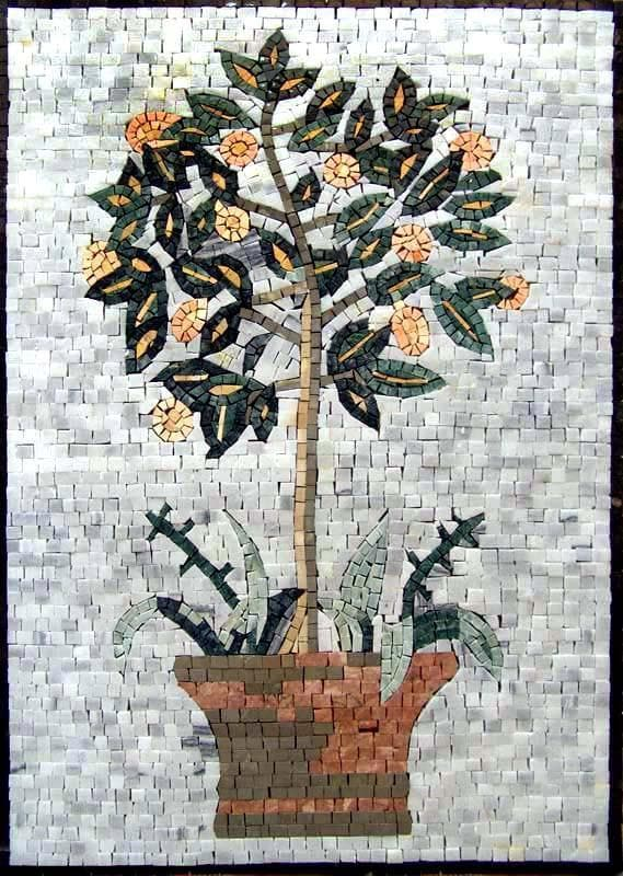 Mosaic Artwork - Lemon Tree