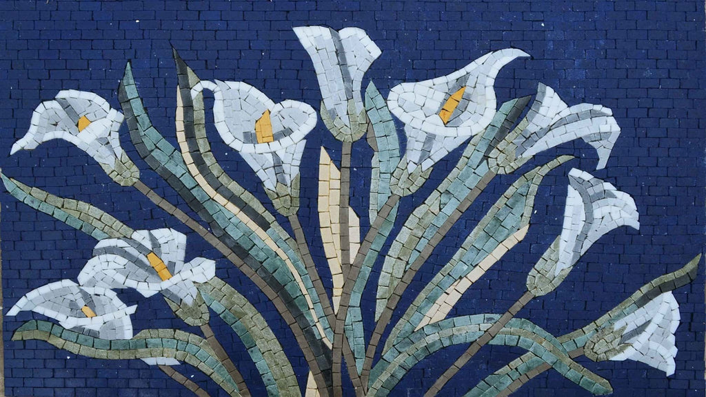 Mosaic Designs - Pastel Calla Lilly Flower