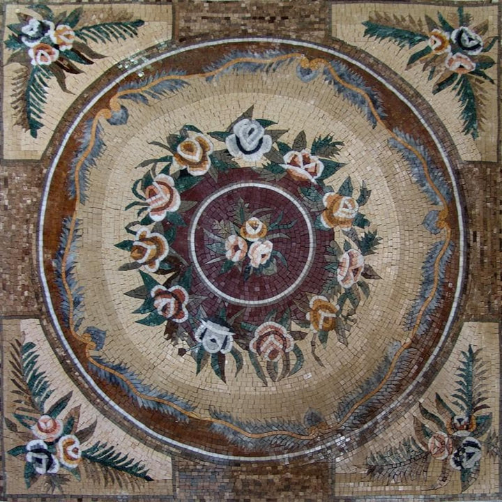 Botanical Mosaic Panel - Cornelia
