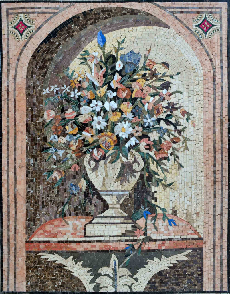Mosaic Wall Art - Flower Vase Of Lisa