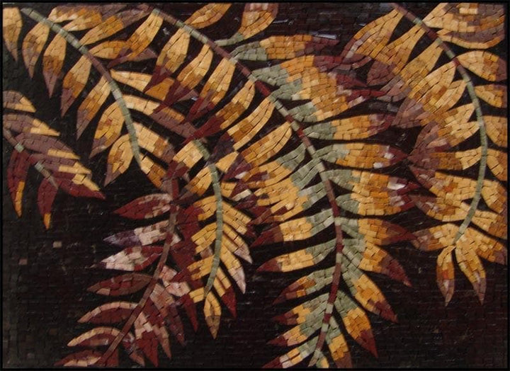 Mosaic Tile Patterns - Autumn Leaves