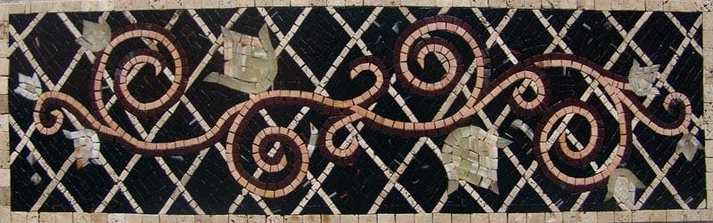 Mosaic Artwork - Wavy Flory