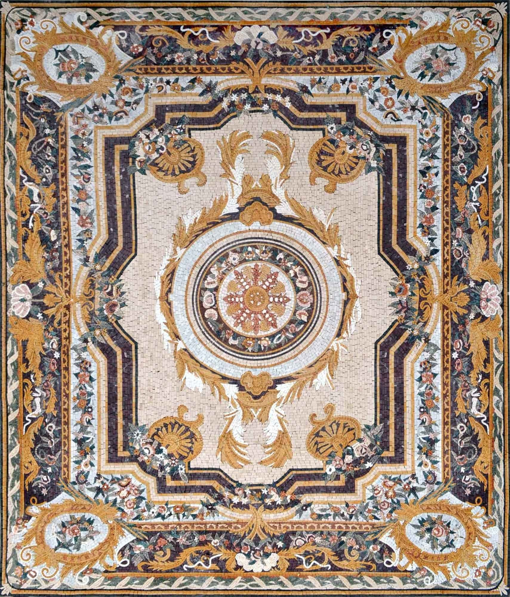 Floral Mosaic Rugs Pic