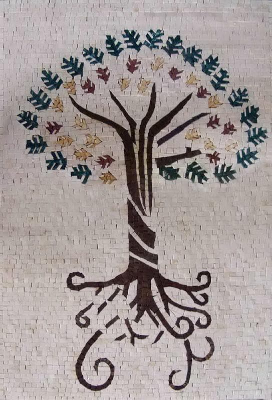 Mosaic Designs - Abstract Sanskrit Tree