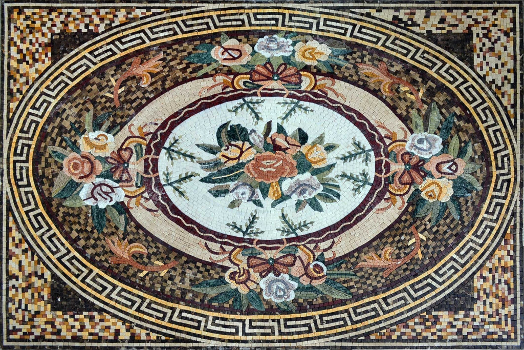 Antique Rose Ova Mosaic - Rhode