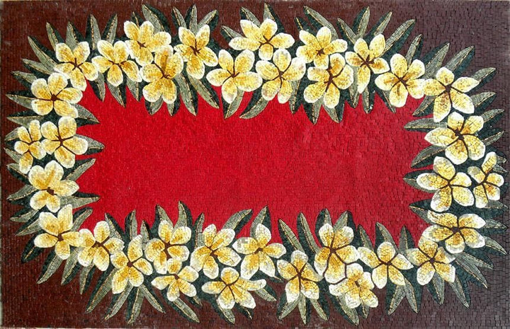 Colorful Floral Mosaic Rug