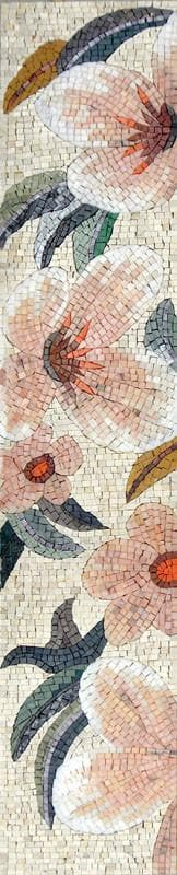 Mosaic Tile Pattern - Soft Rose