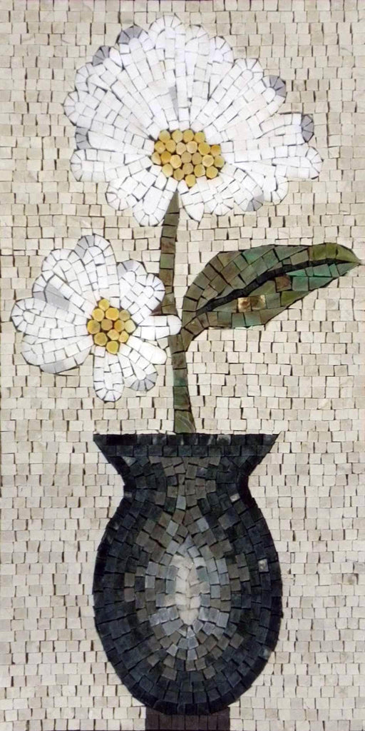 Mosaic Designs - White Daisy
