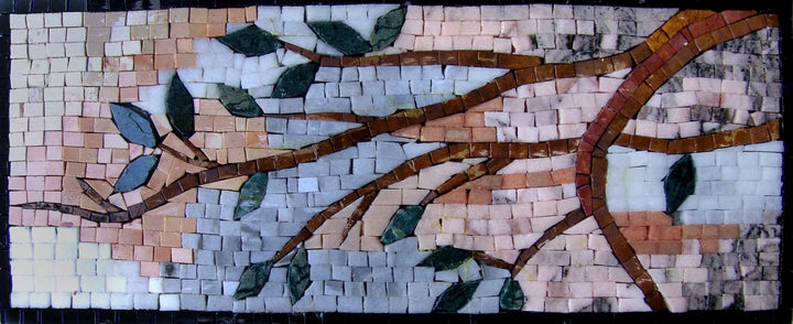 Mosaic Wall Art - Leaves On Twig