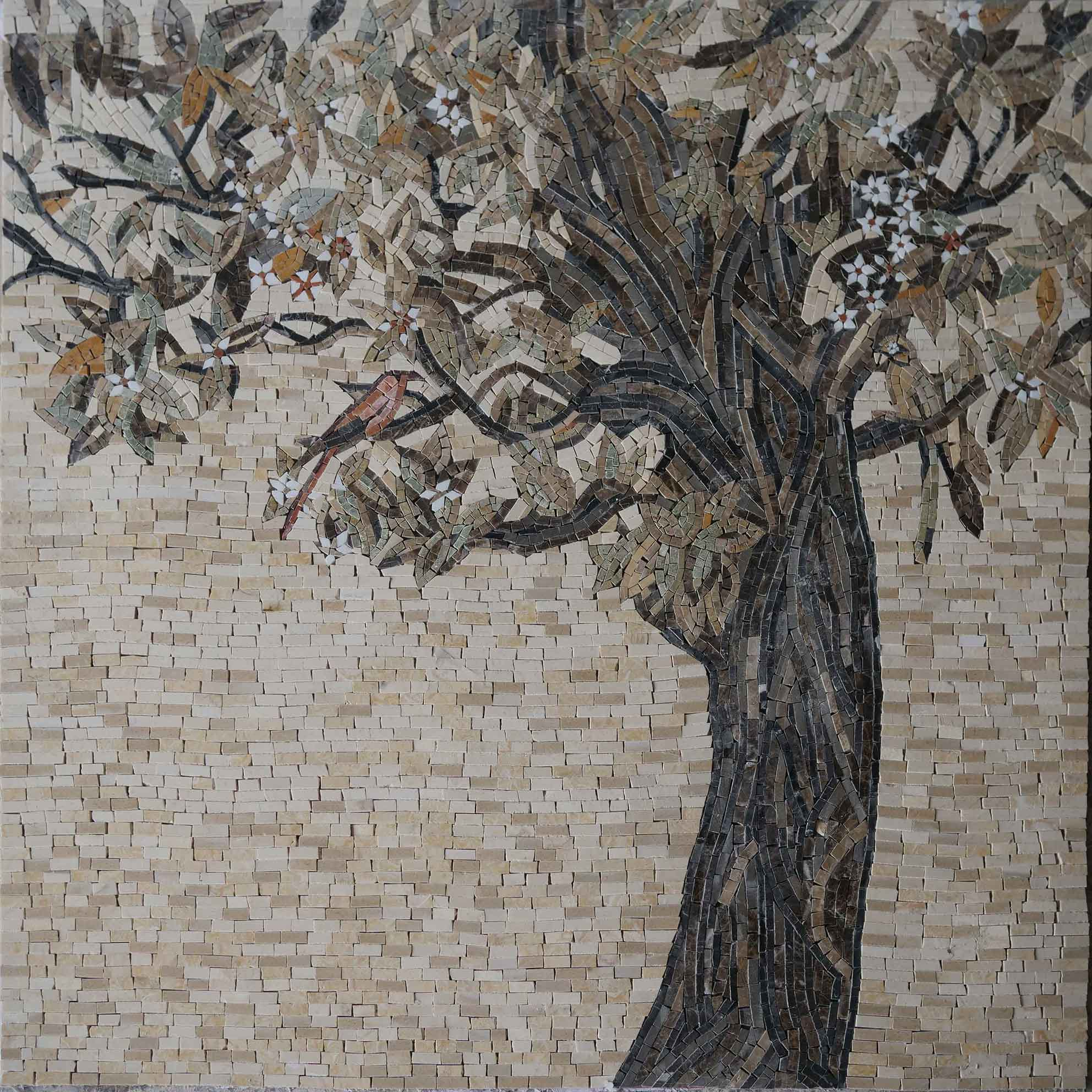 Tile Mosaic Art Olive Tree Pic