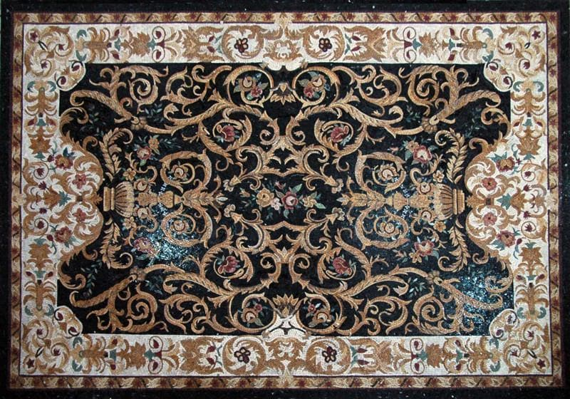 Floral Mosaic Rug Pic