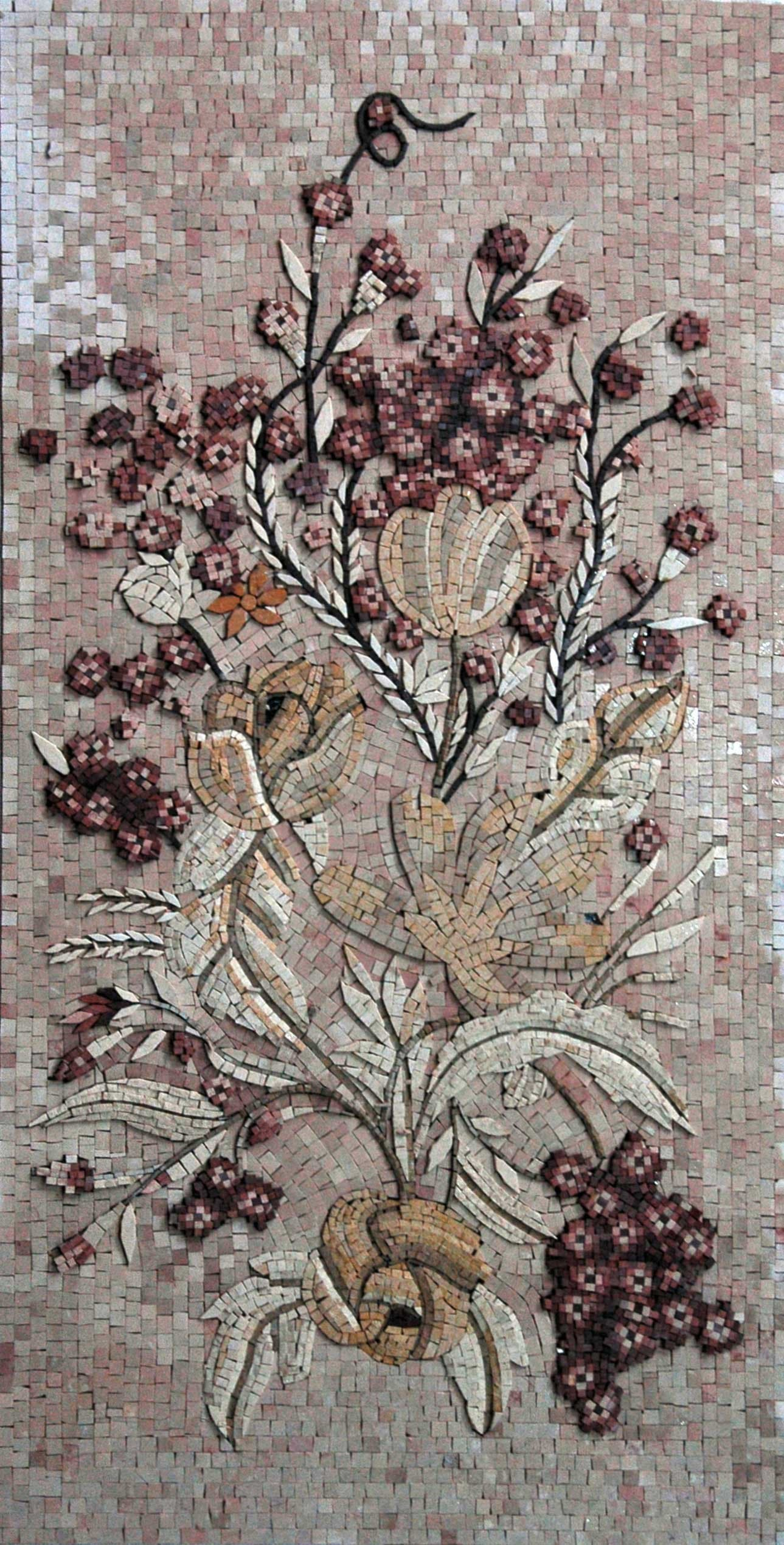 Mosaic Tile Art Crossing Blooms Pic