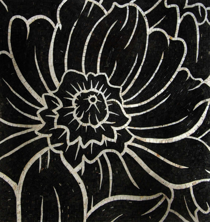 Mosaic Tile Patterns - Black Bloom