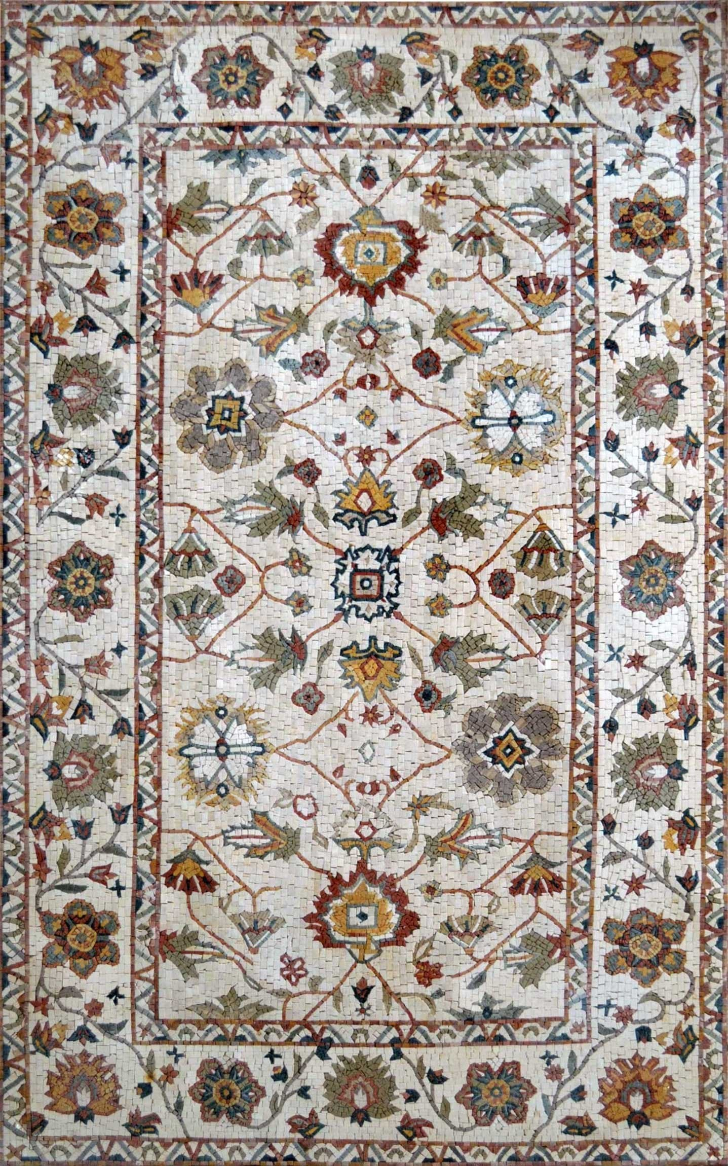 Floral Pattern Mosaic Rug Pic