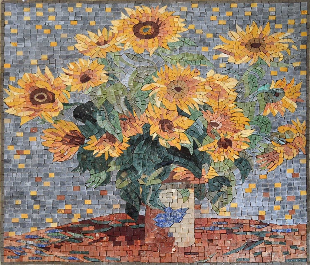 "Claude Monet   Sunflowers"" - Mosaic Reproduction """