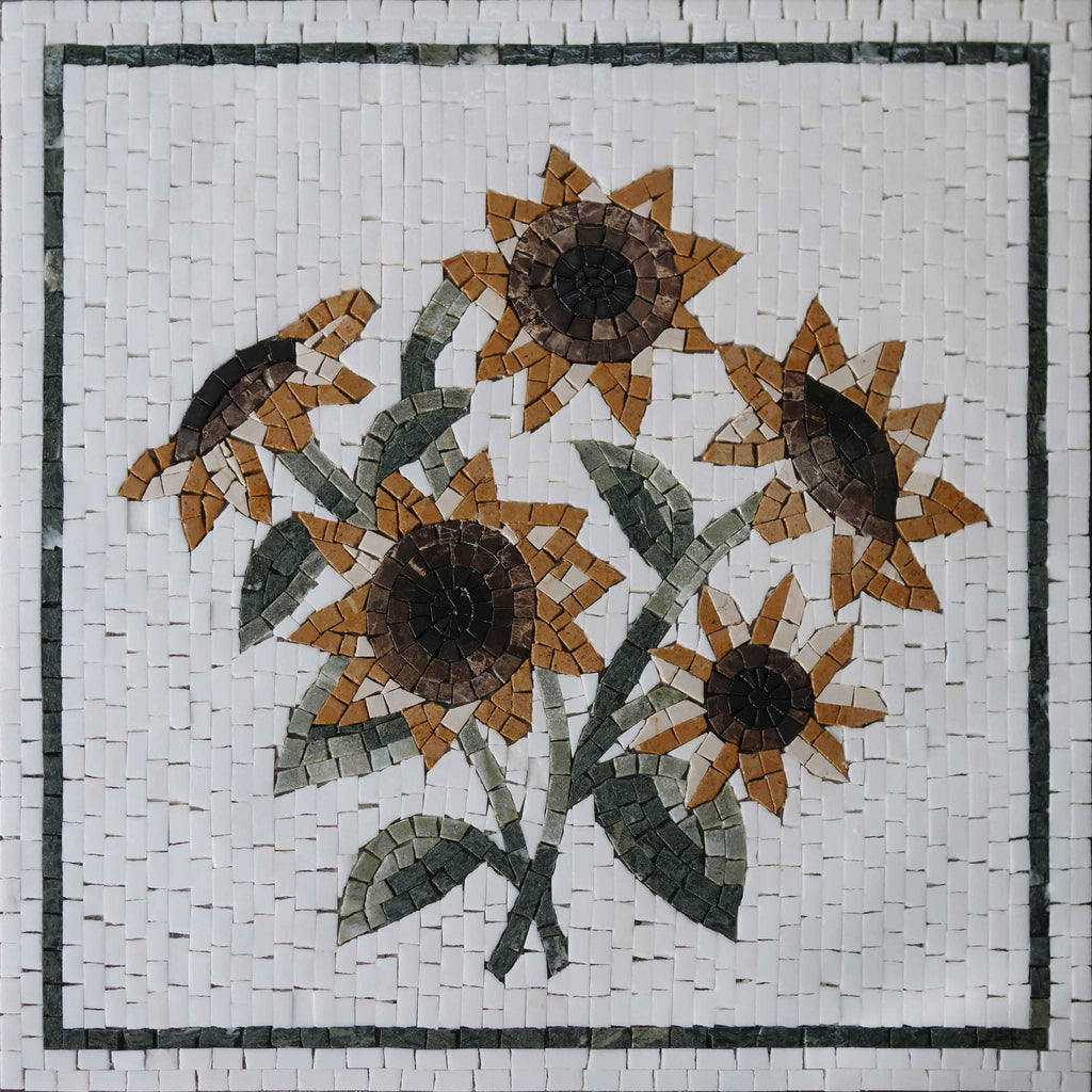 Sunflower Mosaic Tile