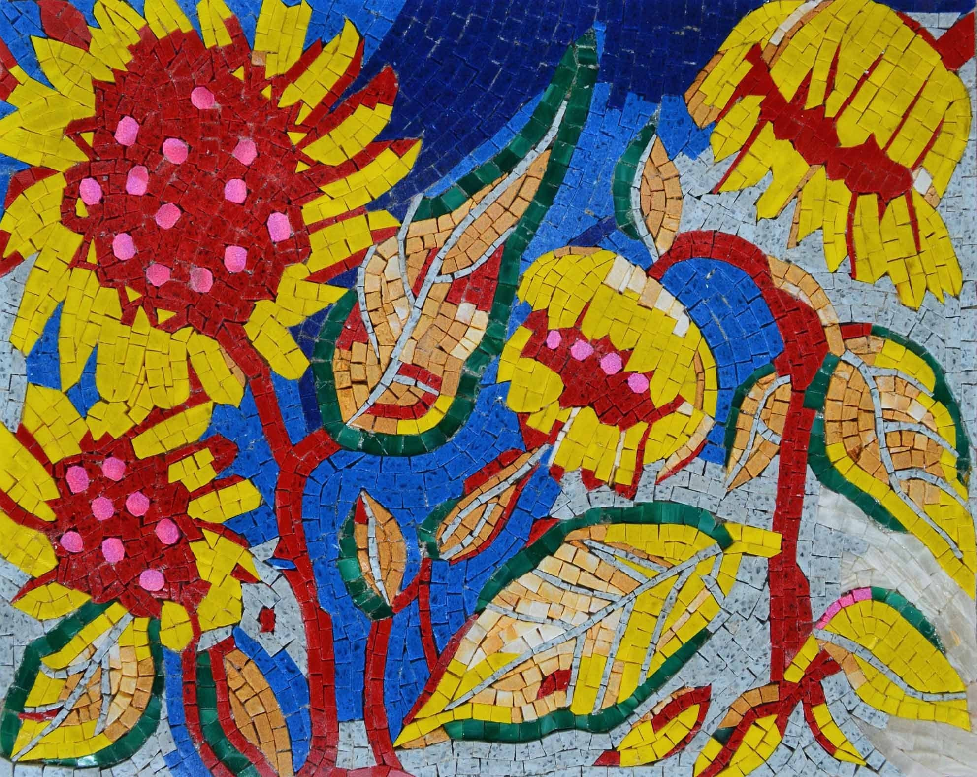 Contemporary Mosaic - Sunflowers