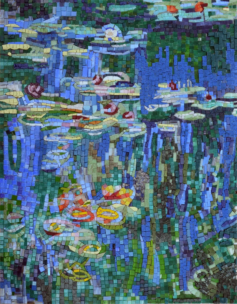 Mosaic Wall Art - Waterlilies