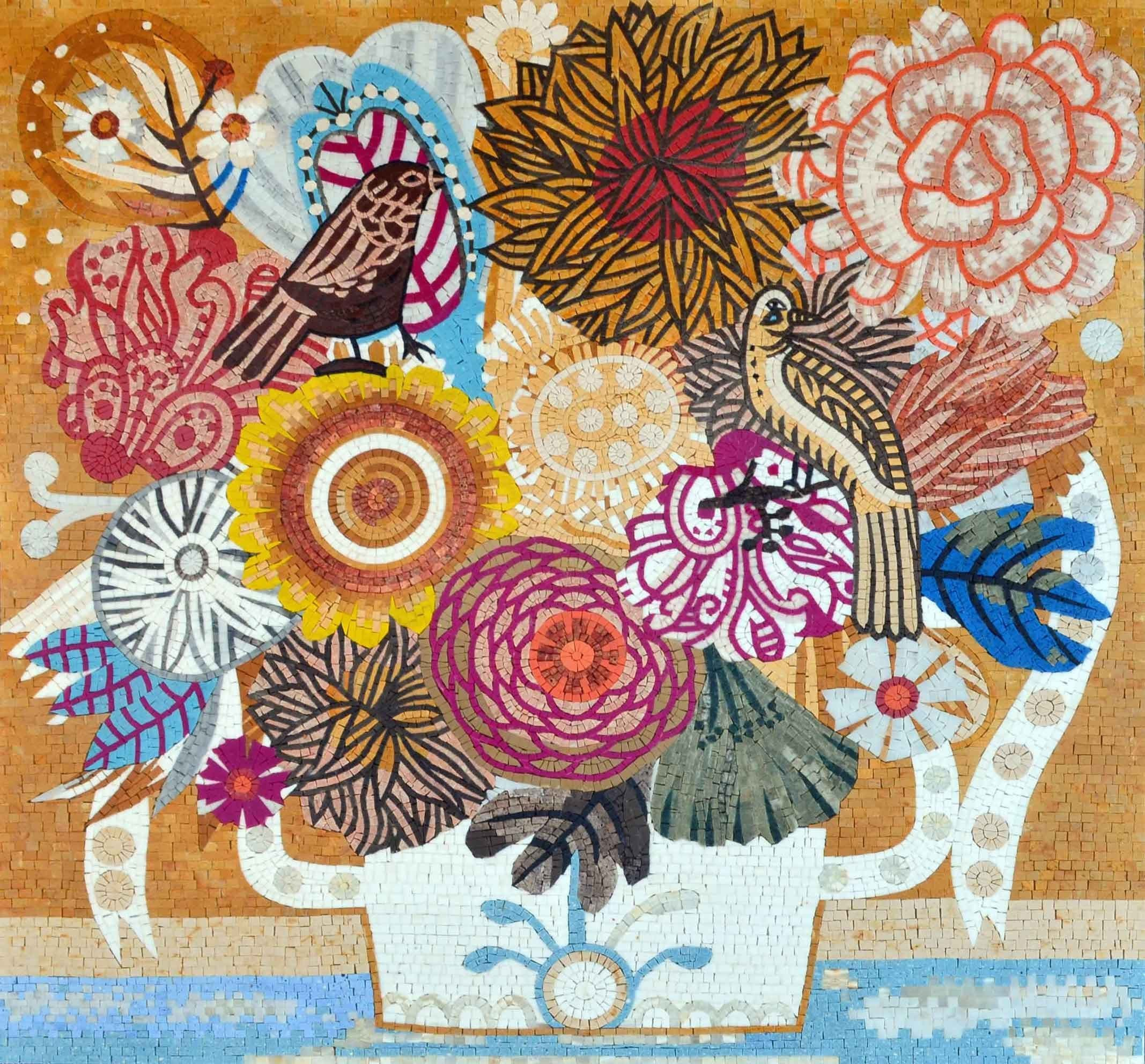 Floral Mosaic Pattern - Ortansia