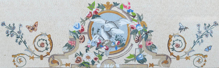Mosaic Artwork- Abstract Doves