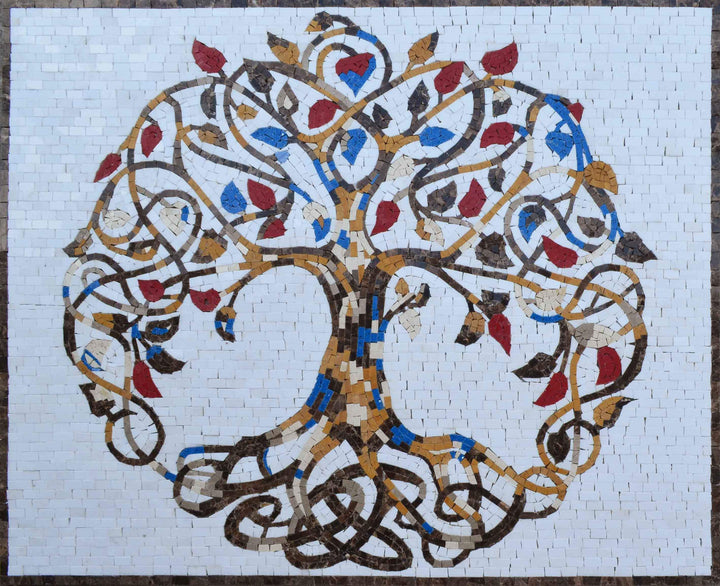Exquisite Tree Of Life Mosaic Art Flowers And Trees