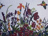 Humming Birds In Spring - Mosaic Art