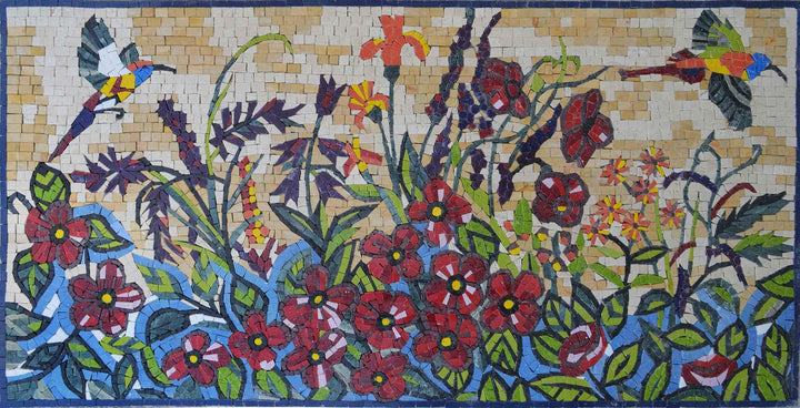 Birds in Colors of Spring - Mosaic Design
