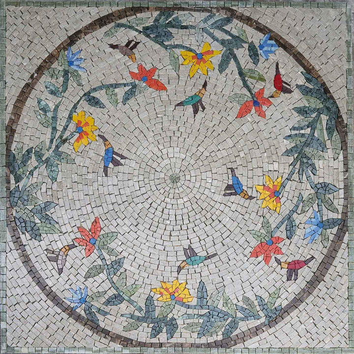 Mosaic Wall Art - Chirpy