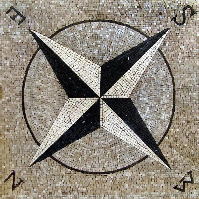 Nautical Star Mosaic - Wind Rose Mosaic