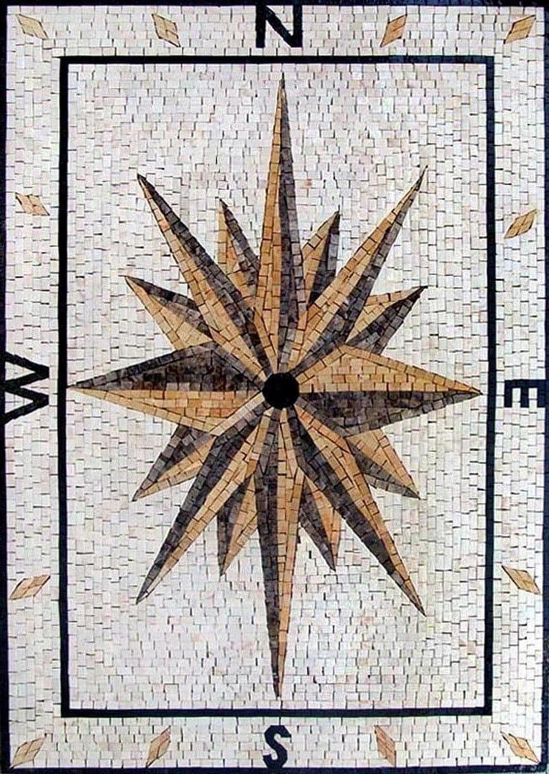 Rectangular Nautical Mosaic - Aura